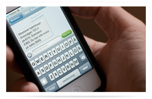 """Un'immagine che mostra uno degli """"sms d'emergenza"""" del servizio SMSlivräddare"""