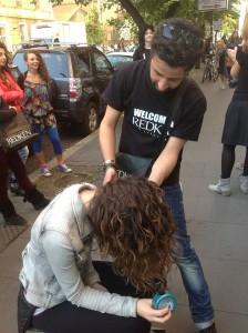 Un momento del Curly Pride tenutosi ieri a Roma (www.facebook.com (2))