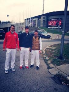 Tomas Berdych davanti la Belgrade Arena, in una foto pubblicata dal giocatore sul suo profilo Facebook