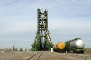 Un'immagine della rampa di lancio del cosmodromo di Baikonur