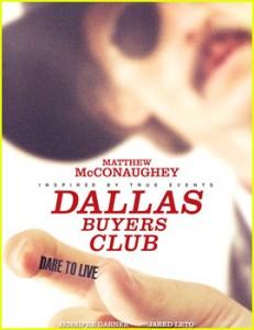 "La locandina del film ""Dallas Buyers Club"" (justjared.com)"