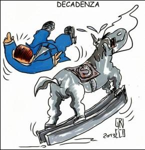 Decadenza Berlusconi Vignetta Satira (ilpeggio.it)