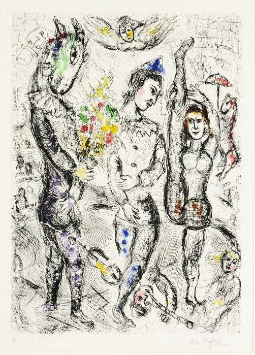 Le Pierrot - Chagall_Cartiglio
