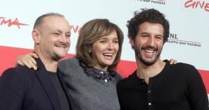 (Da sinistra) Marco Simon Puccioni, Valeria Golino e Francesco Scianna al Festival di Roma