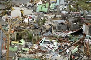 La devastazione del tifone Haiyan in una delle tante foto diffuse sui mezzi di comunicazione