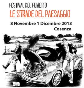 la locandina del Festival del fumetto calabrese (www.gliamantideilibri.it)