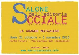 la locandina del Salone dell'editoria sociale (www.sbilanciamoci.org)