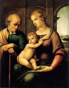 Sacra Famiglia con san Giuseppe senza barba