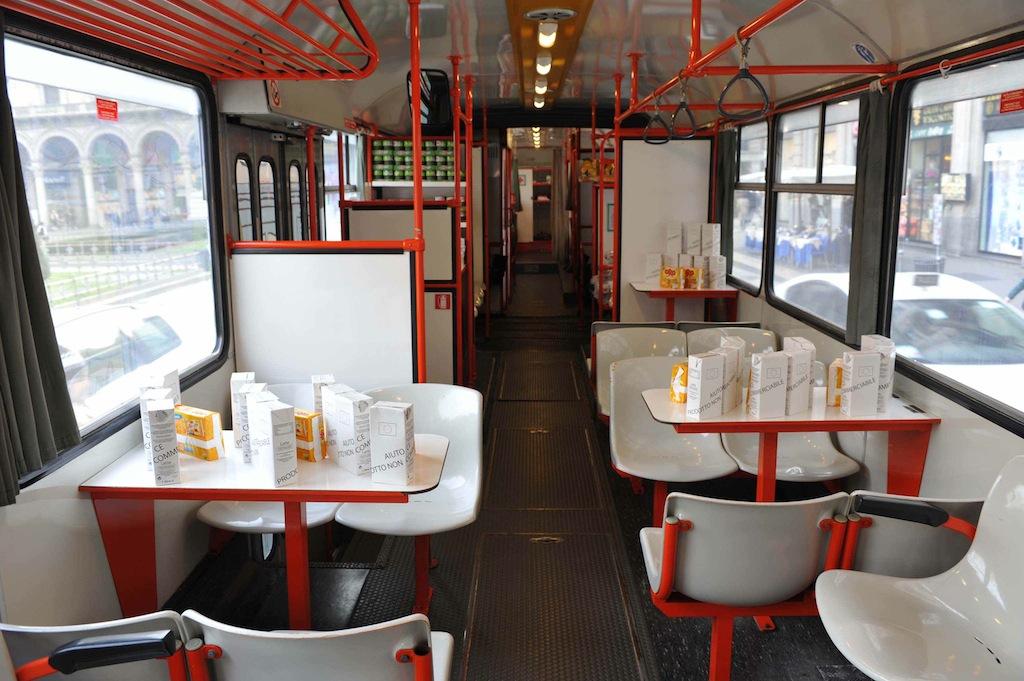 L'autobus all'interno