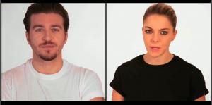 Alessandro Roja e Claudia Gerini nel video di Marco Simon Puccioni