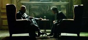 Morpheus e Neo nella scena di Matrix ricalcata dallo spot (exohuman.com)
