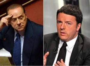 Berlusconi appoggia Renzi dai banchi dell'opposizione