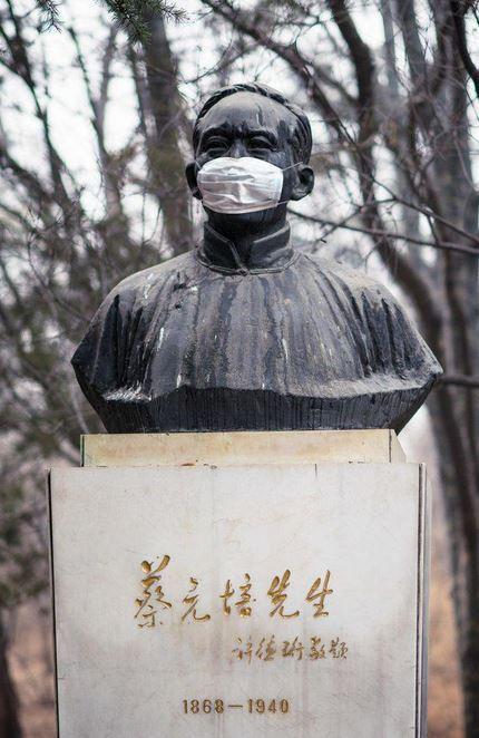 maschere antismog monumenti Pechino
