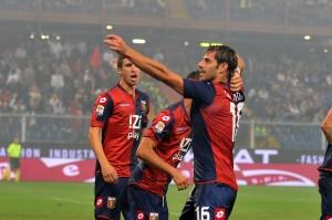 Calaiò, autore dello splendido gol del pareggio contro il Napoli (foto da Tano Pecoraro - LaPresse15)