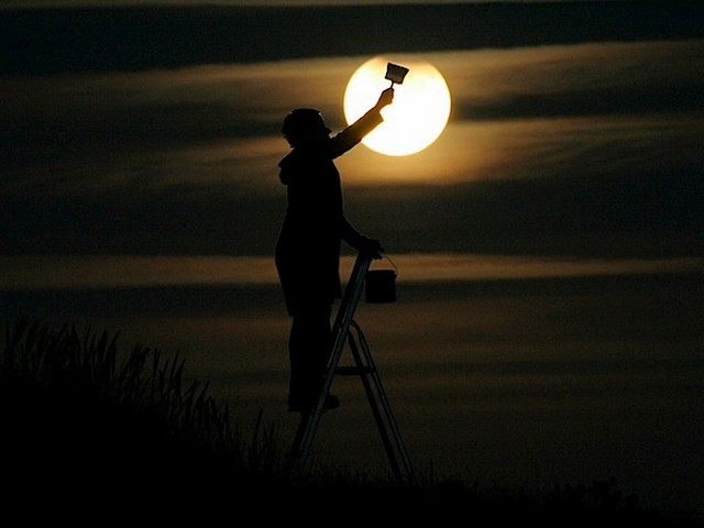 Dipingendo la Luna