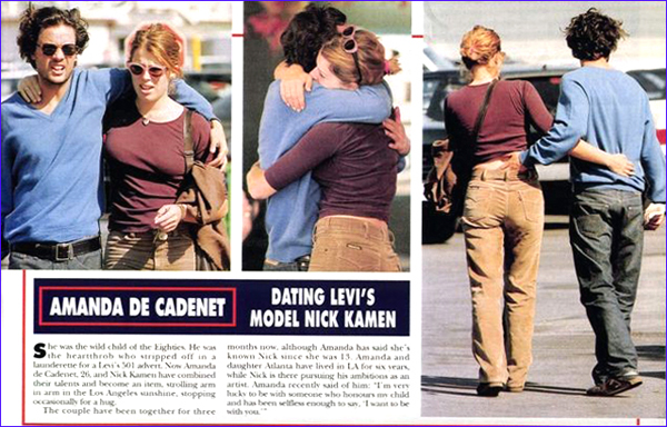 Nel 2000 Nick Kamen si legò sentimentalmente ad Amanda de Cadenet (ottantology.blogspot.com)