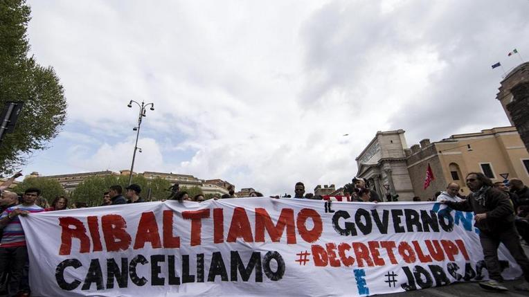 manifestazione a Roma