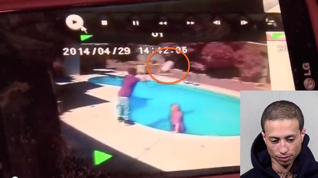 Lancia la figlia di 2 anni in piscina per punizione. 'Era una lezione'