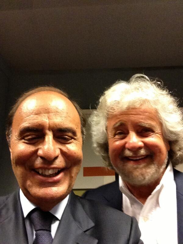 selfie Grillo Vespa