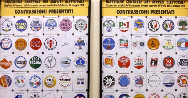 Elezioni europee 2014 simboli