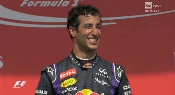 Per Ricciardo è la prima vittoria in F1 al primo anno in Red Bull