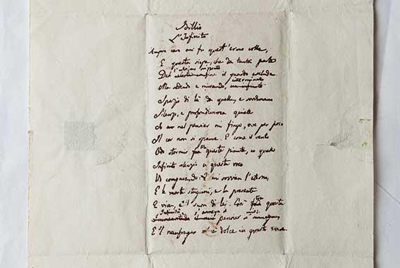 Il terzo autografo dell'Infinito di Giacomo Leopardi. Alcuni studiosi affermano che sia originale, altri sono dubbiosi