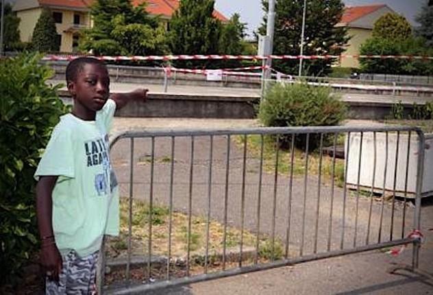 Il parco di Martinengo dove Hatim, un bambino di cinque anni, è stato folgorato