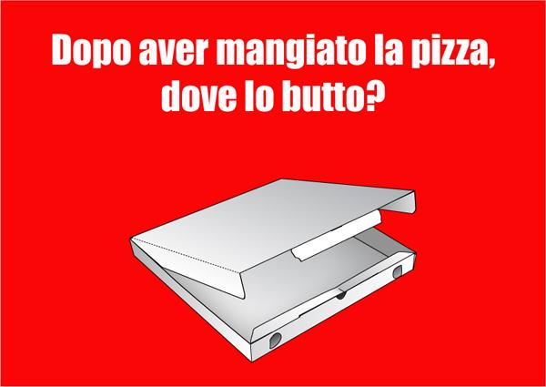 Non tutti sanno dove si butta il cartone della pizza. Comieco ci suggerisce come comportarci