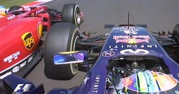 Il duello tra Alonso e Vettel è durato oltre 11 giri (foto: bbc.com)
