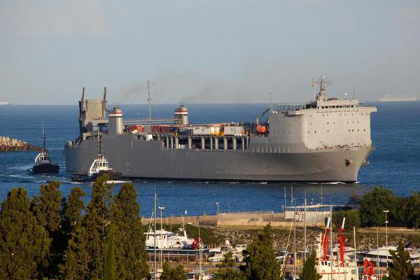 la nave americana Cape Ray
