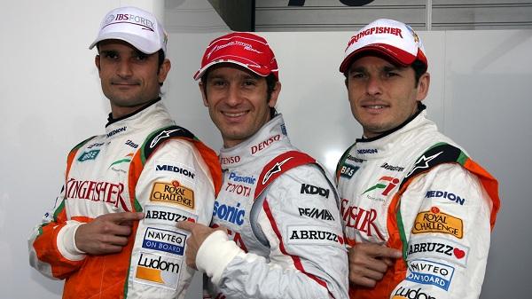 Jarno Trulli e Tonio Liuzzi sono stati gli ultimi piloti italiani a correre in Formula 1 (foto: f1fanatik.co.uk)