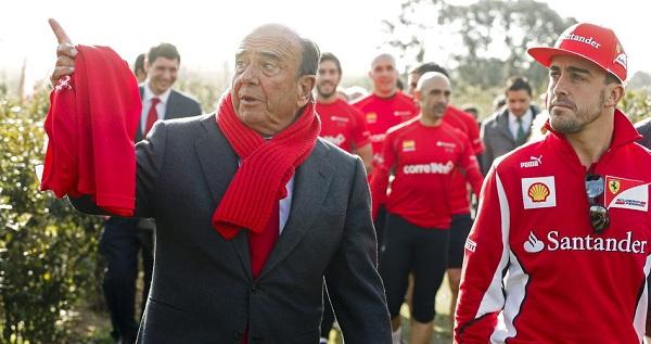 E Alonso perde anche Emilio Botin, Presidente del Banco Santander e suo sponsor (foto: eldiario.es)