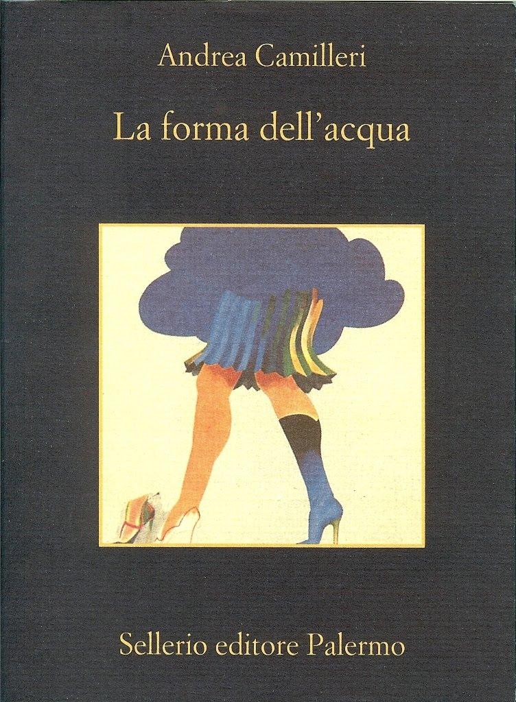"""La copertina Sellerio de """"La forma dell'acqua"""", la prima indagine del commissario Montalbano"""