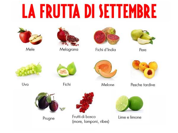 La frutta tipica del mese di settembre (cristalfarma.it)