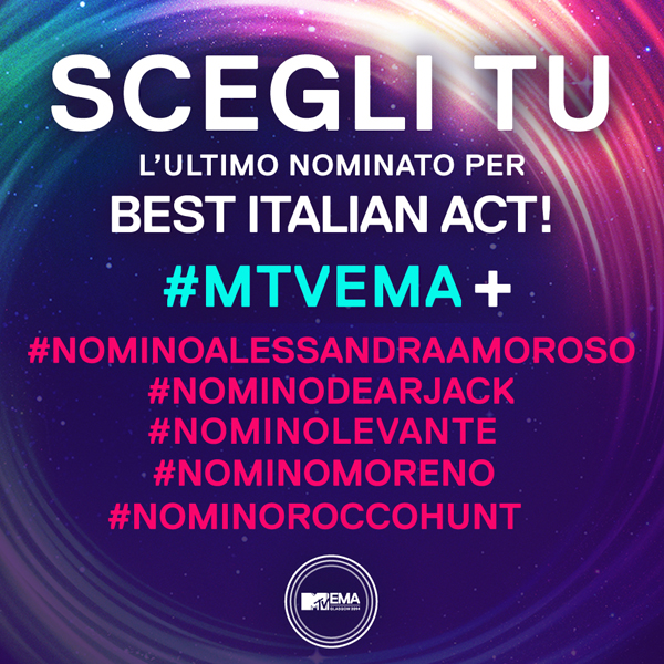 MTV EMA: il quinto artista è scelto dai social