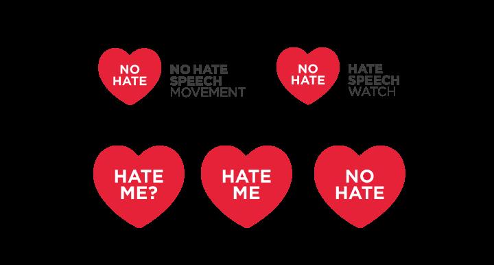 """Il logo del movimento """"No Hate Speech"""""""
