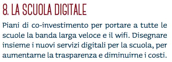 """Il punto 8 della """"Buona scuola"""", il progetto di riforma della scuola del governo Renzi"""