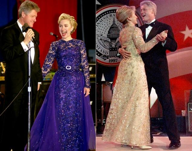 Hillary Clinton vestita con gli abiti di Oscar De la Renta