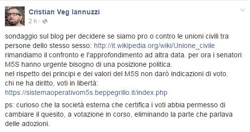 cristian-iannuzzi-m5s-voto-online-unioni-civili-quesito-cambiato