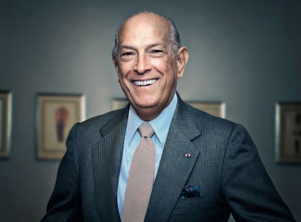 Lo stilista dominicano, Oscar De la Renta