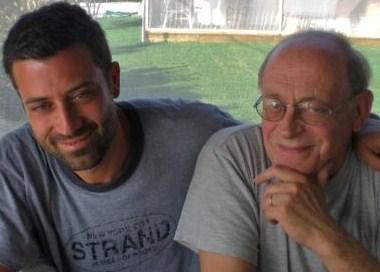 Andrea Bajani con Antonio Tabucchi (Fonte foto: www.ravennaedintorni.it)