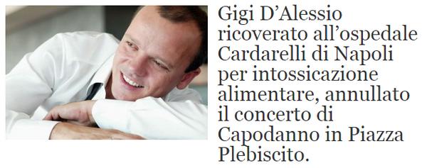 La bufala del malore di Gigi D'Alessio