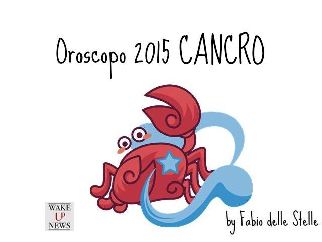 oroscopo 2015 cancro