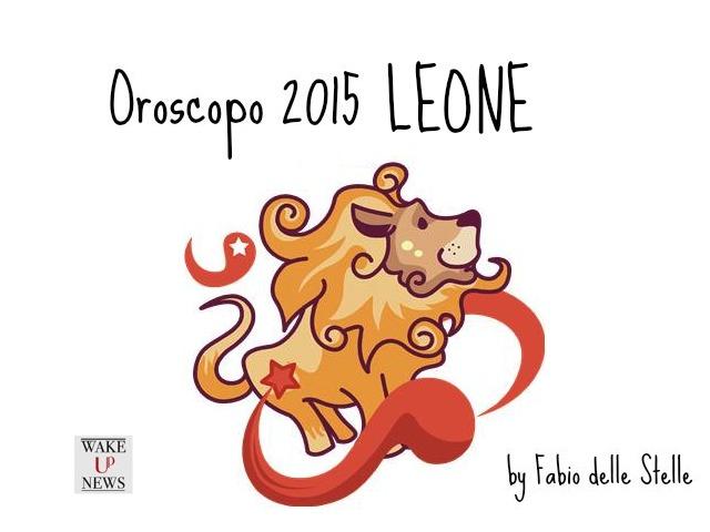 oroscopo 2015 leone