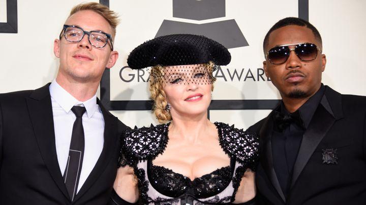 Diplo, Madonna e Nas sul red carpet dei Grammy Awards 2015 (rollingstone.com)