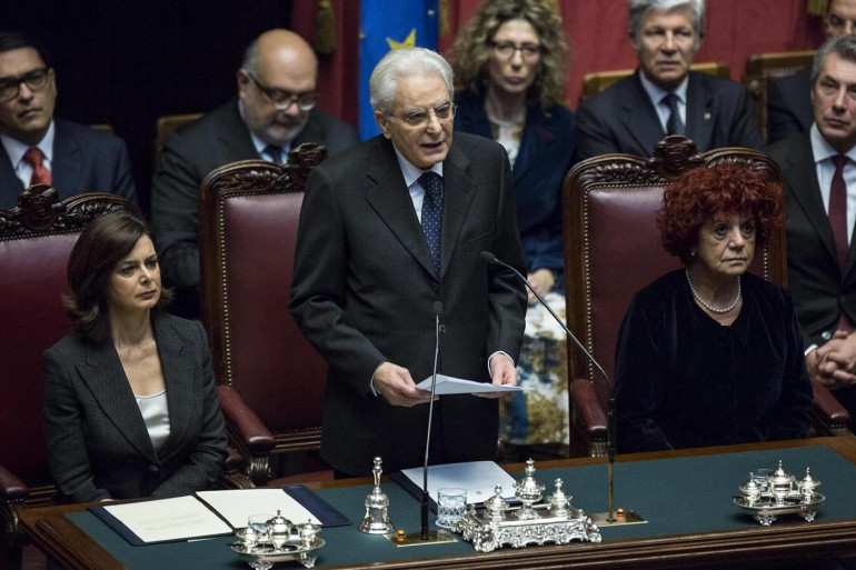 Il primo discorso di Sergio Matterella Presidente (Fonte foto: www.giornalettismo.com)