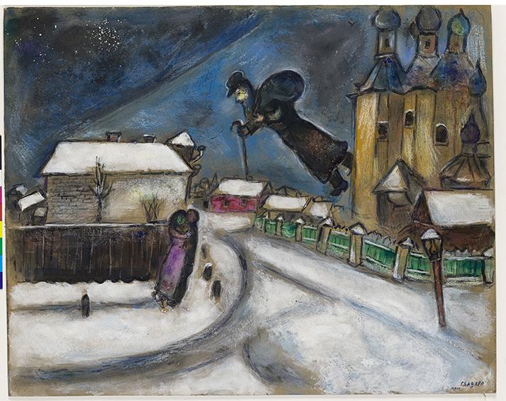 Chagall, Sopra Vitebsk (1914)
