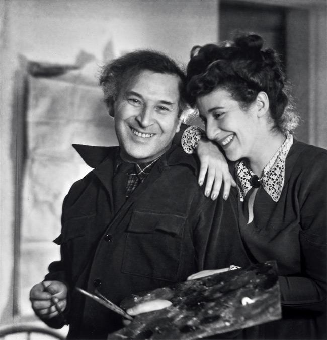 Marc Chagall con la moglie e musa Bella Rosenfeld (Fonte foto: www.senzadedica.blogspot.com)