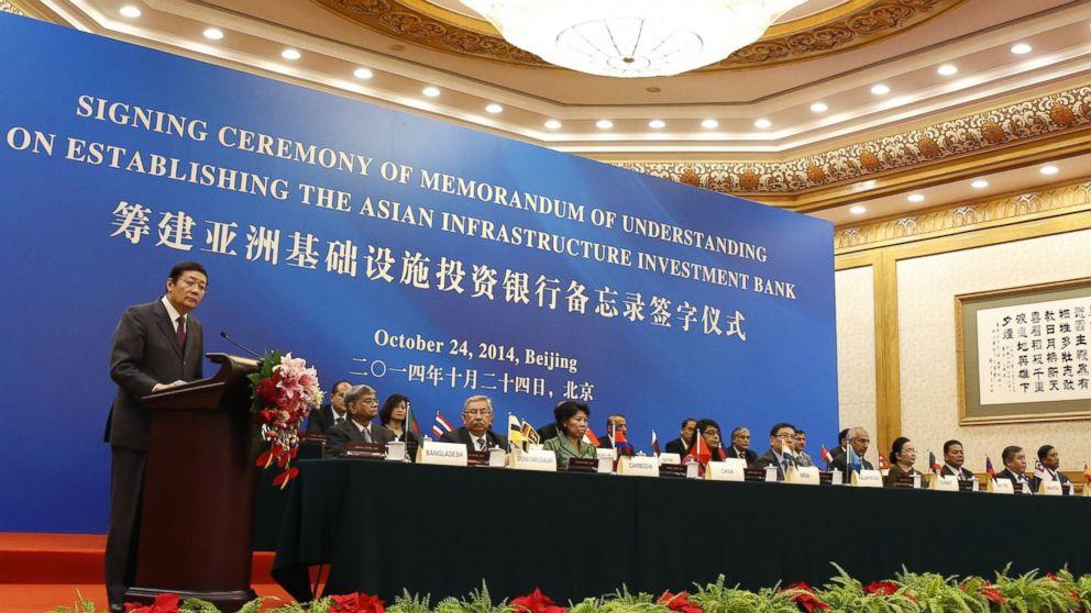 La presentazione della nuova Asian Infrastructure Investment Bank a Pechino