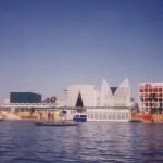 Una cartolina del lago di spagna, al centro del sito di Expo1992